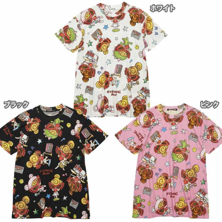Hystericmini ヒステリックミニ SELFISH GIRL総柄 Viscotex BIG Tシャツ