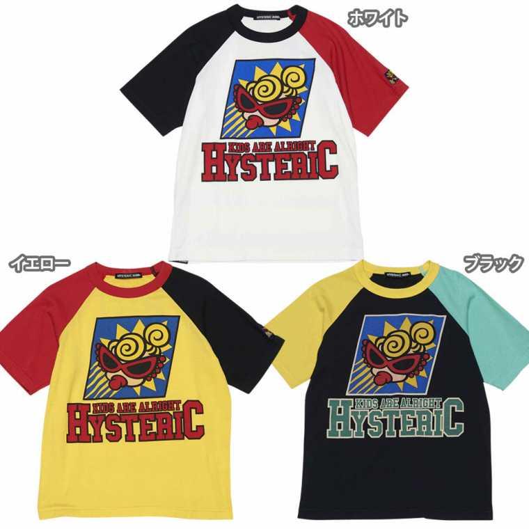 Hystericmini ヒステリックミニ HYS MINI TOKYO 配色ラグラン半袖Tシャツ