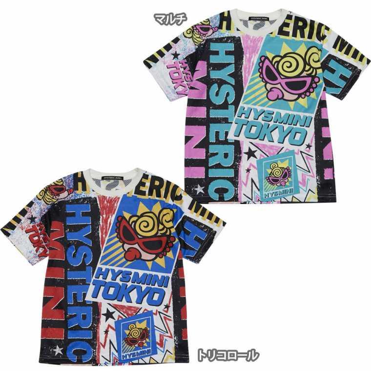 Hystericmini ヒステリックミニ HYS MINI TOKYO Viscotex 半袖BIGTシャツ