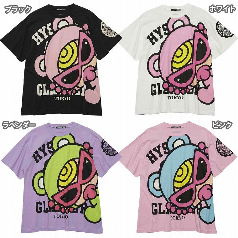 Hystericmini ヒステリックミニ TEDDY MINI&カレッジロゴ BIG Tシャツ
