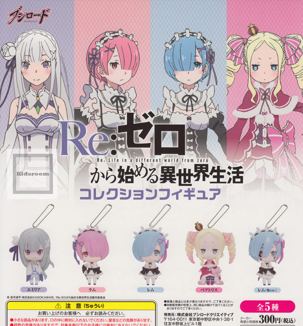 [Gacha Gacha Complete set] Re: Life in a different world from zero Collection Figure set of 5