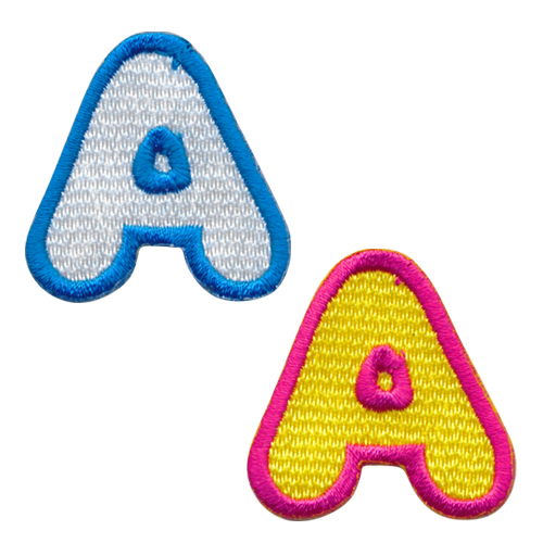 生地は7種類 糸カラーは21種類カラーを自由に組み合わせてオリジナルワッペンが作れるシンプルで使いやすいサイズの刺繍ワッペンです 早割クーポン アルファベットワッペン_A 縦4cmサイズ 文字ワッペン ローマ字ワッペン セールSALE%OFF アップリケ 刺繍ワッペン アイロン接着