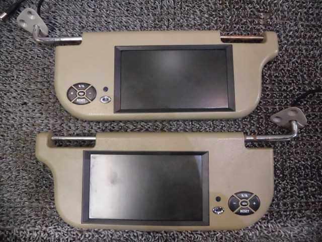 中古 社外 バイザーモニター グレー セット 汎用 2H3-1430 超目玉 賜物 左右