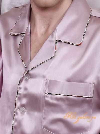 半袖メンズシルクパジャマ 無地 ダークパープル 絹100% 紳士【送料無料】父の日 敬老の日 プレゼント ギフト【smtb-KD】【楽ギフ_包装選択】あす楽対応