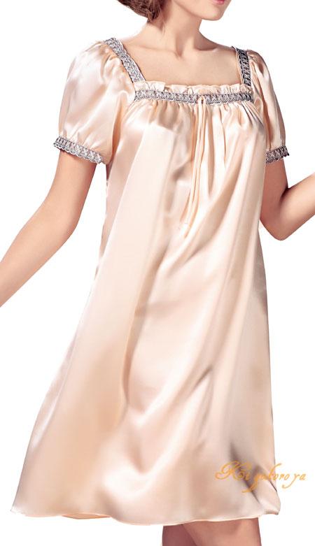 19匁シルク100%ネグリジェ 安心と信頼 サーモンピンク無地と刺繍 サーモンピンク 無地 刺繍 送料無料 母の日 楽ギフ_包装選択 あす楽対応 smtb-KD プレゼント 敬老の日 ギフト 売り出し