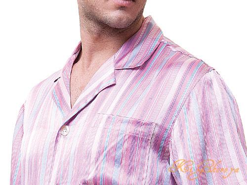 高級シルク100%パジャマ カラフルストライプ 長袖 絹100% メンズ 紳士【送料無料】父の日 敬老の日 プレゼント ギフト【smtb-KD】【楽ギフ_包装選択】あす楽対応