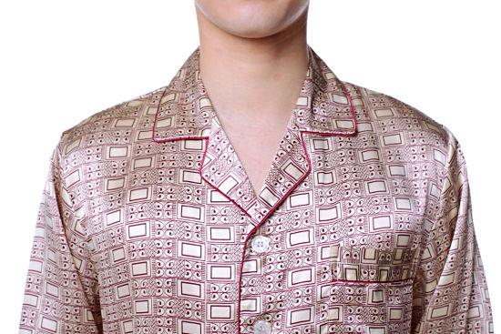 シルクパジャマ メンズ 長袖 シルク100% オシャレ 赤紫色パープル 【送料無料】父の日 敬老の日 プレゼント ギフト【smtb-KD】あす楽対応