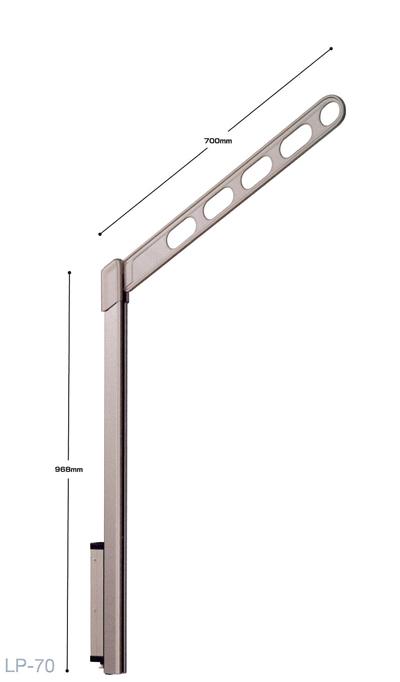 【川口技研 ホスクリーン】LP型 LP-70-LB/LP-70-DB/LP-70-W/LP-70-S腰壁用 ホスクリーン 上下式 ハイグレードタイプ1セット