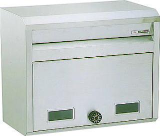 ハッピーポスト 682-K郵便受け 郵便ポスト壁面取り付け及びポール取り付けタイプ前入れ前取出しダイヤル錠