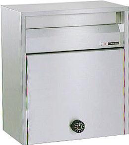 ハッピーポスト 680-K郵便受け 郵便ポスト壁面取り付け及びポール取り付けタイプ前入れ前取出しダイヤル錠
