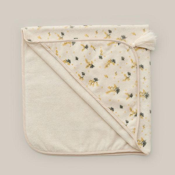 garbo&friends ガルボアンドフレンズ Baby Hooded Towel Mimosa ベビーバスタオル ベビー雑貨 赤ちゃん MILK お祝い ギフト ベビー キッズ 子供服