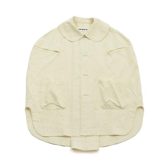 UNIONINI ユニオニーニ gauze work shirt ガーゼワークシャツ ホワイト ブラウス ユニセックス ベビー キッズ 子供服 レディース