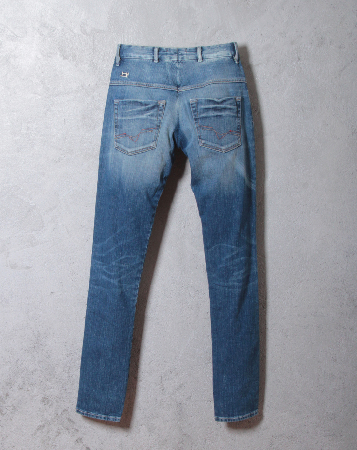 West logo in fabric silk your taperedslimjeans pants die-l-p-30-675