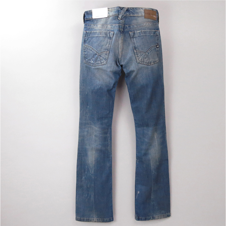 ■GAS men ■ ユーズドダメージ processing bootcut jeans denim underwear gas-m-p-38-624