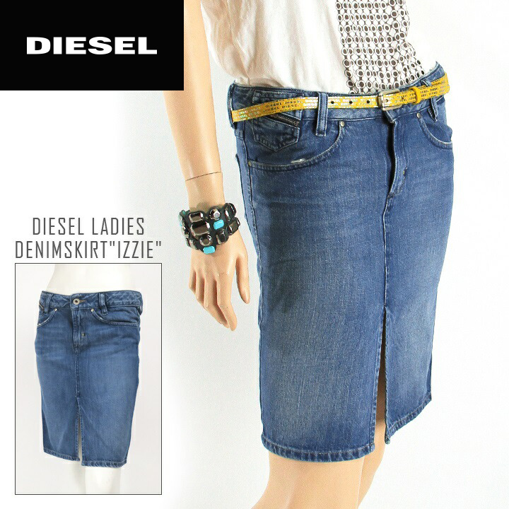 4ef378e5e ... die-l-s · ☆ DIESEL diesel ladies ☆ front slit knee-length tight denim  skirt die-l-s ...