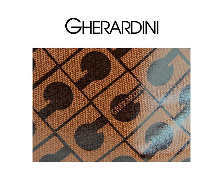 GHERARDINI ゲラルディーニ レディース 本革レザー使いロゴ総柄ショルダーバッグ鞄 サイズUNIブラウン ghe l a 45 614WEYH29DI