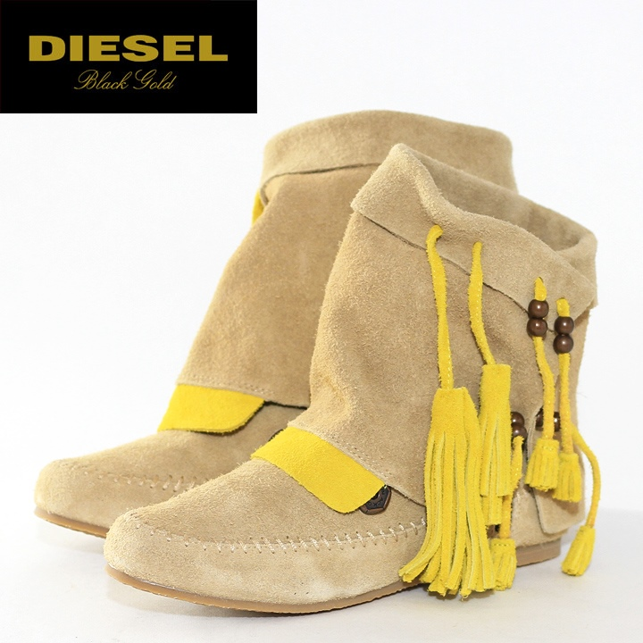 bf160e18d47 ... ☆ DIESEL BLACK GOLD diesel black gold ladies ☆ leather leather leather  suede suede 2 way moccasin boots boots shoes die-l-k-54-007