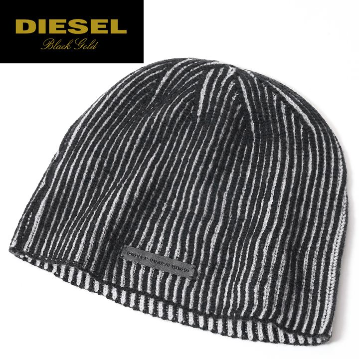 □DIESEL BLACK GOLD diesel black gold man and woman combined use □ wool  beanie cap knit hat hat die-m-a-78-008 95c297d2a38