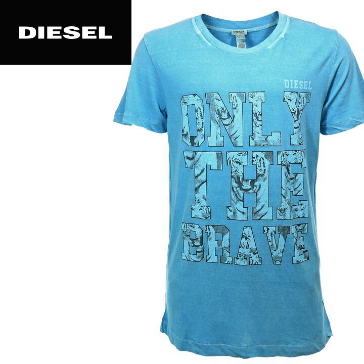 ■DIESEL diesel men ■ ユーズド processing piece-dyed beachwear short sleeves  T-shirt die-m-c-80-002