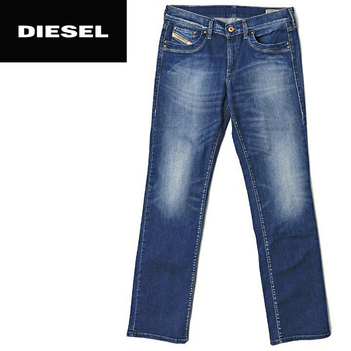 15920390 ☆DIESEL diesel Lady's ☆ ユーズド processing stretch regular bootcut jeans denim  underwear die-l-p ...