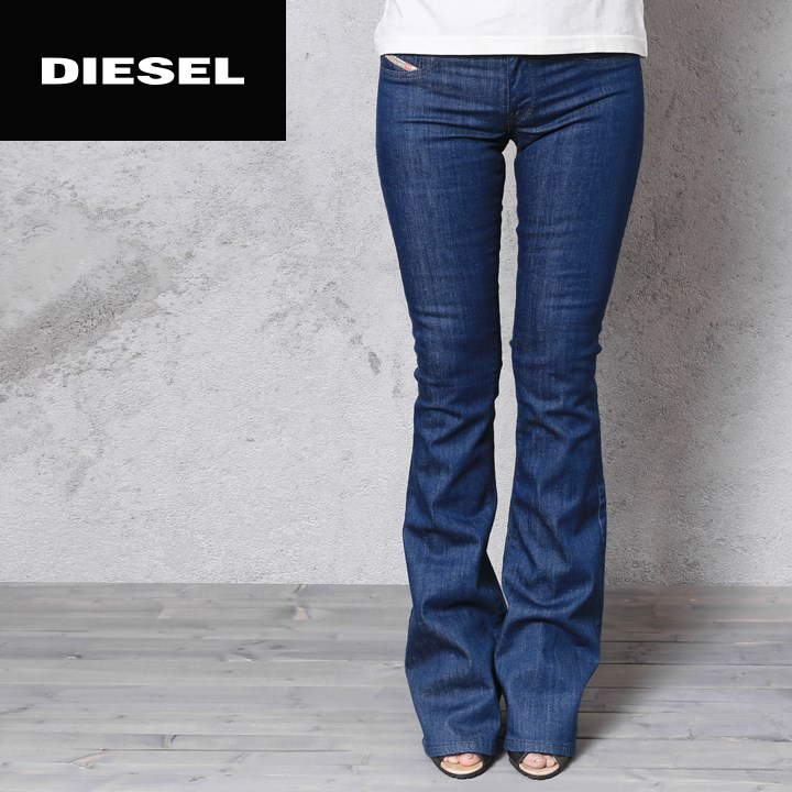 40fd956c ☆DIESEL diesel Lady's ☆ fake pocket stretch supermarket slim flare bootcut  bell-bottom jeans ...