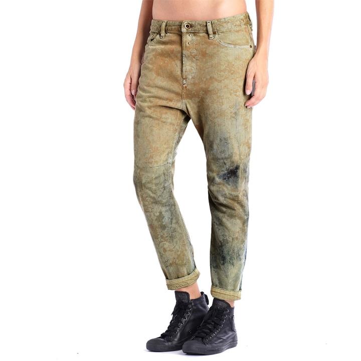 652147a2 ... ☆DIESEL diesel Lady's ☆ ヴィンテージユーズド processing whole pattern  irregularity dyeing boyfriend jeans denim underwear ...
