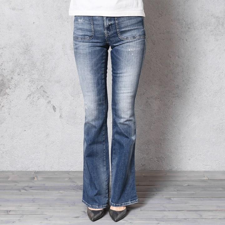 5294736a ... ☆DIESEL diesel Lady's ☆ ユーズドダメージ processing stretch regular slim  bootcut jeans denim underwear die ...