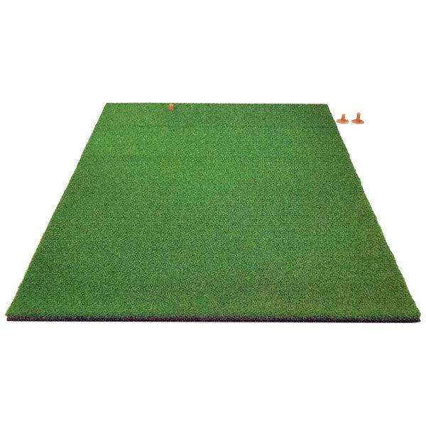 本格派!ゴルフ練習用マット 【グリーンターフコンビセット TN-15-2020】ティーマット+スタンスマットのセット 100cm×160cm, 座間味村 c3afe074