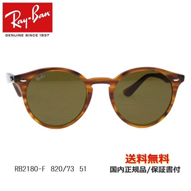 【送料無料】[Ray-Ban レイバン] RB2180-F 820/73 51 [サングラス][ サングラス ]