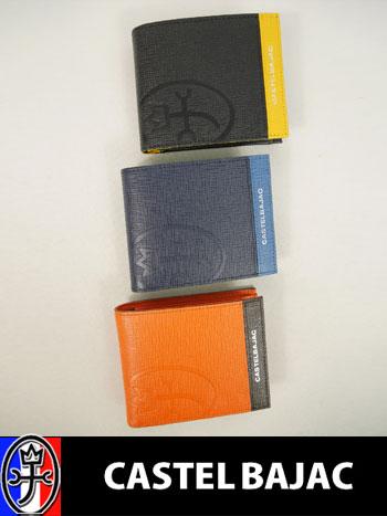 ▼二つ折り財布〔アルル〕 【11.5×2×9cm:メンズ】カステルバジャック CASTEL BAJAC サイフ メンズ【新作モデル】【送料無料】