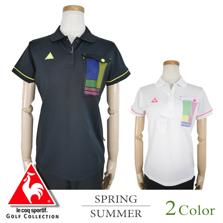 49d93f5b13 Suehiro: ▽Short-sleeved shirt [with the mesh pocket] Le Coq golf Le coq  sportif GOLF golf wear shirt Lady's | Rakuten Global Market