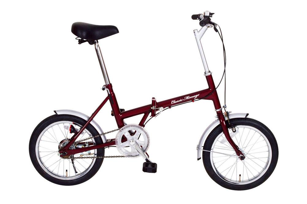Classic Mimugo FDB16 クラシックミムゴ 16インチ折り畳み自転車 シングルギア かご無し 365 折りたたみ コンパクト 小型 持ち運び おすすめ