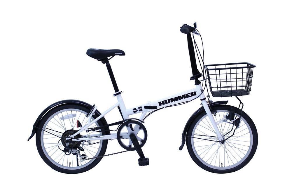 HUMMER FDB206SF ハマー20インチ 折り畳み 6段ギア 自転車 かご有り ライト付 365 ミムゴ 折りたたみ 小型 持ち運び おすすめ