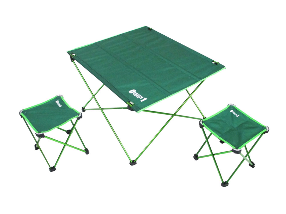 ZERO-ONE FIELD アルミコンパクトセット アウトドアグッズ キャンプ用品 小型 テーブル チェア セット 折り畳み 簡易