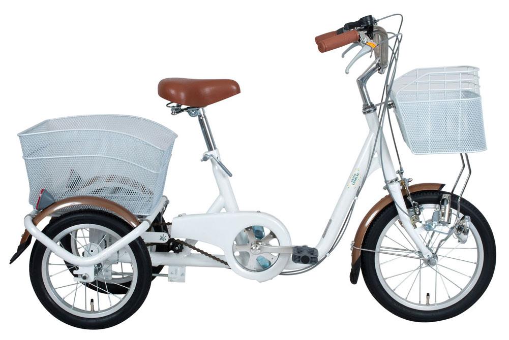 SWING CHARLIE ロータイプ 三輪 自転車 16インチ ホワイト 365 大人用三輪車 荷台 人気 おすすめ 小さめ 小型