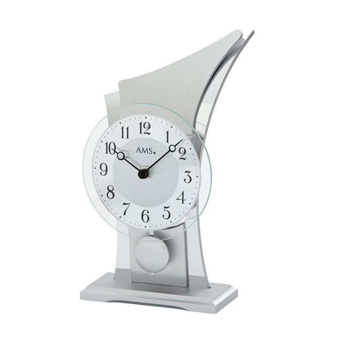 AMS アームス 置き時計 ams-1138 アナログ ドイツ製 置時計 振り子 アルミ [アムス 海外メーカー 輸入時計 欧州 デザイン]