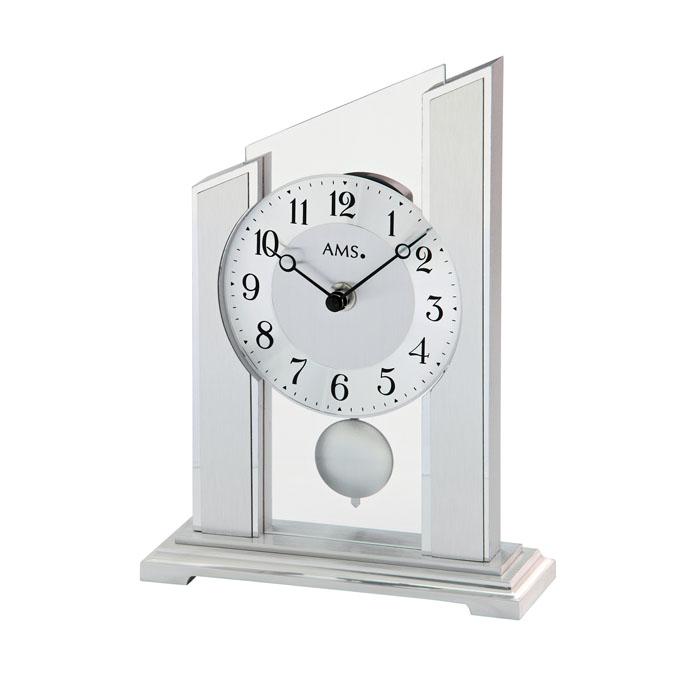 AMS アームス 置き時計 ams-1169 アナログ ドイツ製 置時計 振り子 ガラス [アムス 海外メーカー 輸入時計 欧州 デザイン]