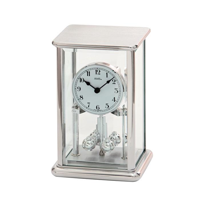 AMS アームス 置き時計 ams-1210 アナログ ドイツ製 置時計 回転振り子 ガラス [アムス 海外メーカー 輸入時計 欧州 デザイン]