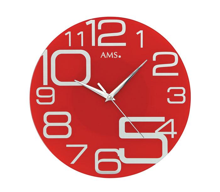 AMS アームス 壁掛け時計 ams-9462 アナログ ドイツ製 掛時計 ガラス 丸型 [アムス 海外メーカー 輸入時計 欧州 デザイン クロック 新築祝い 新築お祝い ]