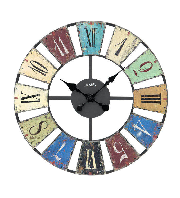 AMS アームス 壁掛け時計 ams-9465 アナログ ドイツ製 掛時計 アンティーク調 プリント 丸型 [アムス 海外メーカー 輸入時計 欧州 デザイン クロック 新築祝い 新築お祝い ]