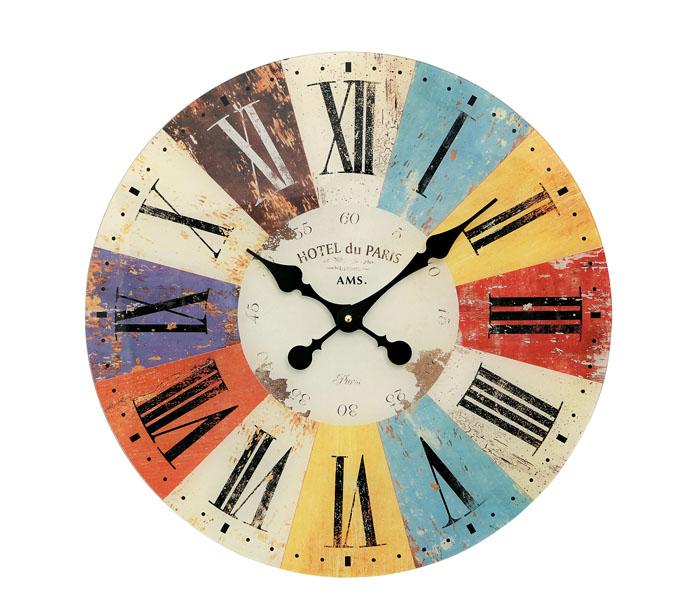 AMS アームス 壁掛け時計 ams-9467 アナログ ドイツ製 掛時計 アンティーク調 プリント 丸型 [アムス 海外メーカー 輸入時計 欧州 デザイン クロック 新築祝い 新築お祝い ]