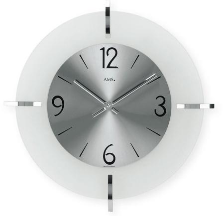 【AMS】【ドイツ製】【アームス】サークルデザイン クォーツ式掛け時計 ガラス・アルミコンビ ams9285[送料無料]【成人式 お祝い】【父の日】【クリスマス】