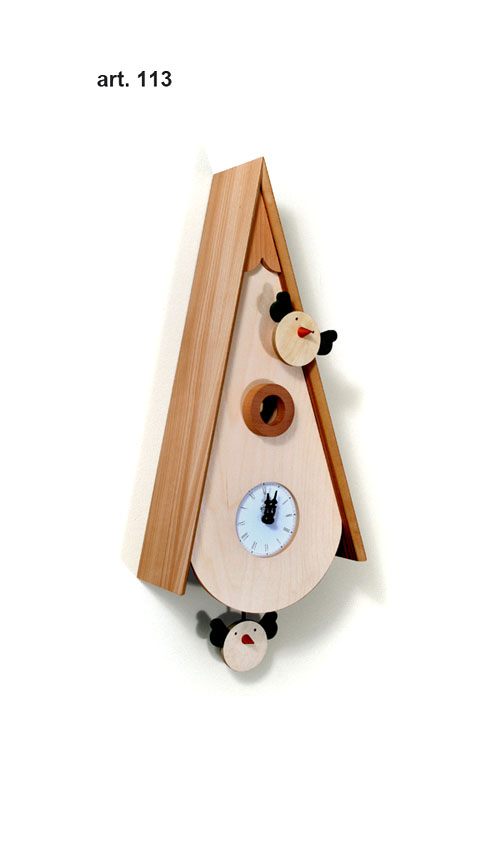 【イタリア製】【外国製 手作り 時計】【鳩 時計】Pirondini(ピロンディーニ)イタリア職人のハンドメイドクロック Uccellini カッコー時計(振り子付き) art113[送料無料]【楽のし対応】【成人式 お祝い】【父の日】【クリスマス】