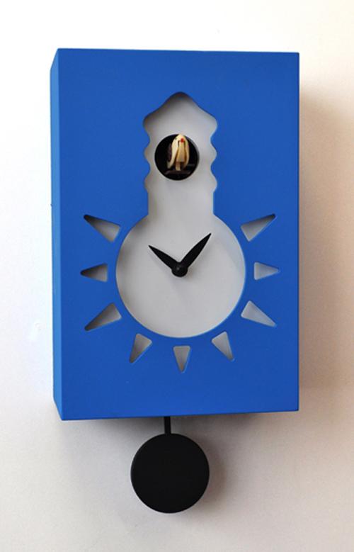 【イタリア製】【外国製 手作り 時計】【鳩 時計】Pirondini(ピロンディーニ)イタリア職人のハンドメイドクロック Night&Day カッコー時計(振り子付き) art116bl[送料無料]【楽のし対応】【成人式 お祝い】【父の日】【クリスマス】
