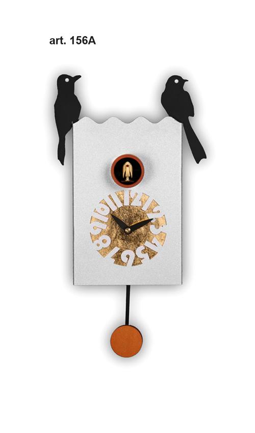 【イタリア製】【外国製 手作り 時計】【鳩 時計】Pirondini(ピロンディーニ)イタリア職人のハンドメイドクロック Duetto カッコー時計(振り子付き) art156[送料無料]【楽のし対応】【成人式 お祝い】【父の日】【クリスマス】