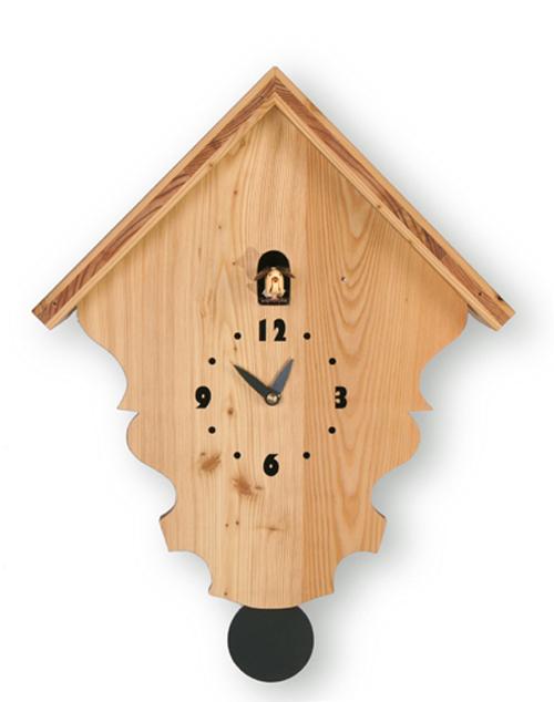 【イタリア製】【外国製 手作り 時計】【鳩 時計】Pirondini(ピロンディーニ)イタリア職人のハンドメイドクロック Natural カッコー時計(振り子付き) art801[送料無料]【楽のし対応】【成人式 お祝い】【父の日】【クリスマス】