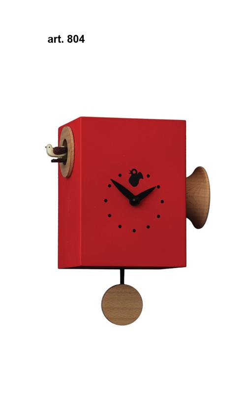 【イタリア製】【外国製 手作り 時計】【鳩 時計】Pirondini(ピロンディーニ)イタリア職人のハンドメイドクロック trombettimo カッコー時計(振り子付き) art804re[送料無料]【楽のし対応】【成人式 お祝い】【父の日】【クリスマス】