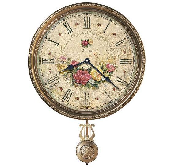 HOWARD MILLER ハワードミラー(アメリカ) Wall Clock 壁掛け時計 620-440 Savannah Botanical VII 振り子 輸入時計 アナログ [ 御祝 御祝い お祝い 記念品 新築祝い 熨斗 ]【クリスマス】