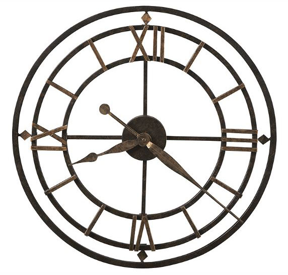 HOWARD MILLER ハワードミラー(アメリカ) Wall Clock 壁掛け時計 625-299 York Station ロートアイアン(錬鉄製) ゴールド系 輸入時計 アナログ [ 御祝 御祝い お祝い 記念品 新築祝い 熨斗 ]【クリスマス】