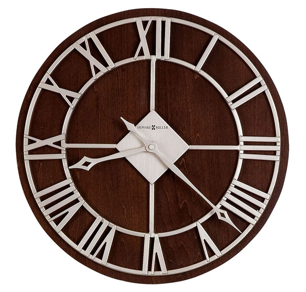 HOWARD MILLER ハワードミラー(アメリカ) Wall Clock 壁掛け時計 625-496 Prichard ダークブラウン系 輸入時計 アナログ [ 御祝 御祝い お祝い 記念品 新築祝い 熨斗 ]【クリスマス】